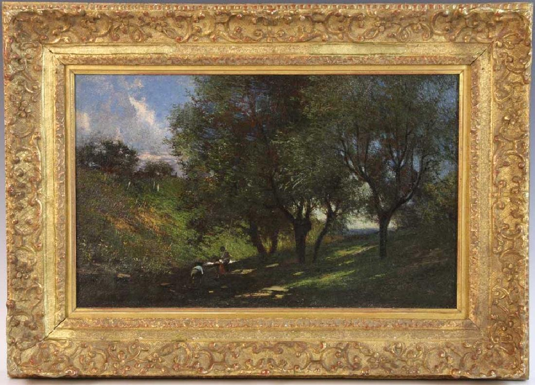 19th C. Impressionistic Landscape, Oil on Canvas