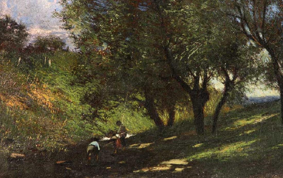 19th C. Impressionistic Landscape, Oil on Canvas - 5