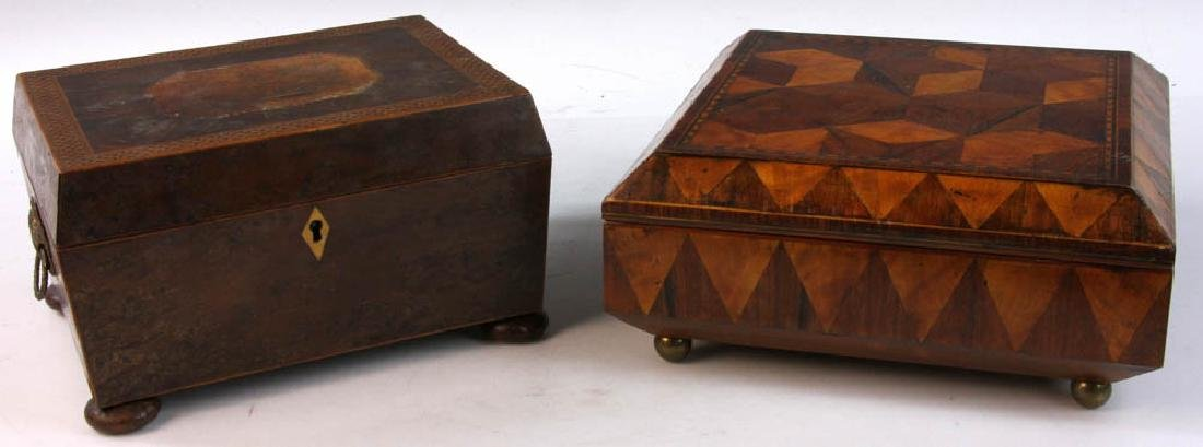Two Early 19th Century English Inlaid Boxes