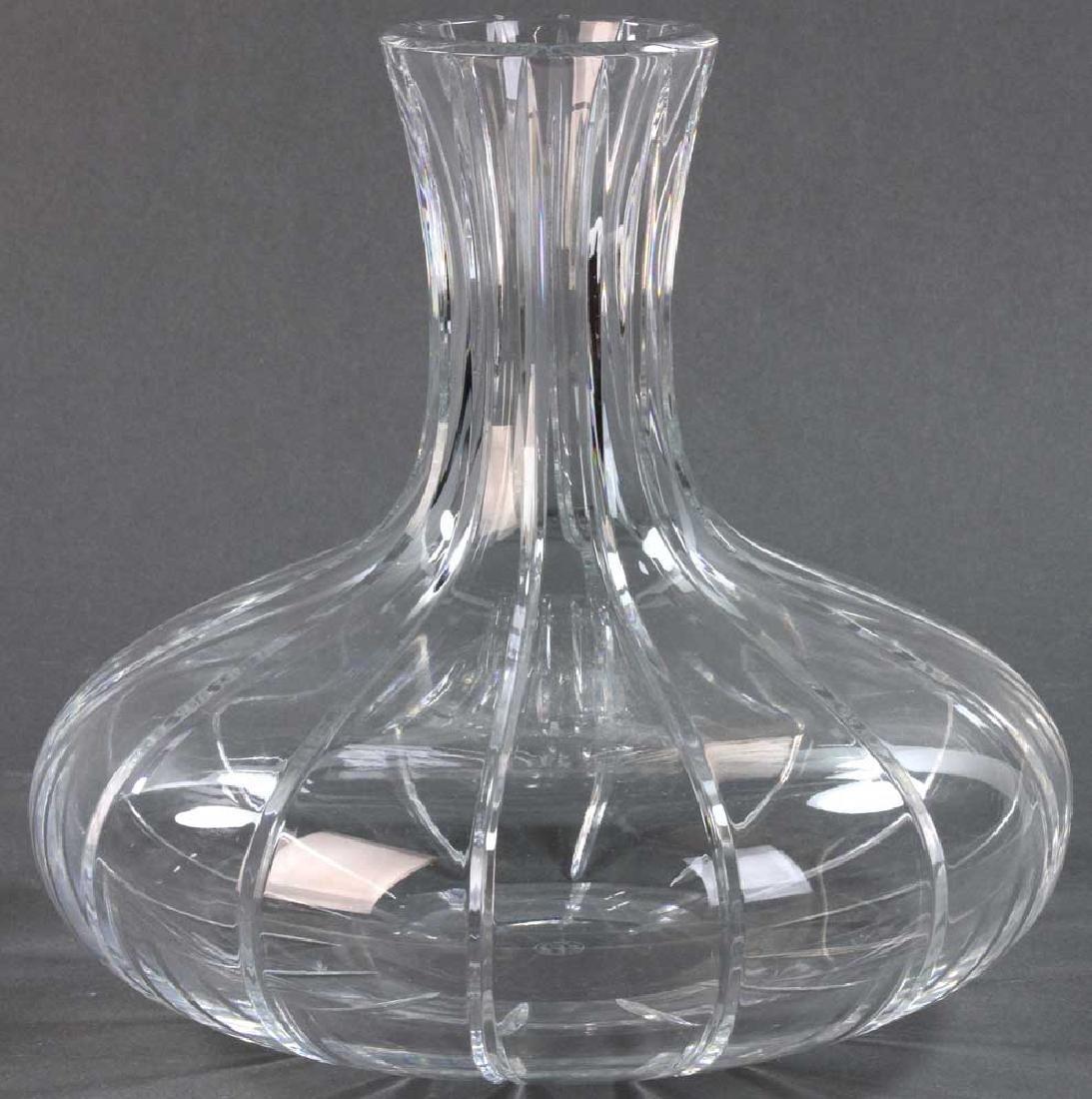 Signed Baccarat Cut Crystal Vase