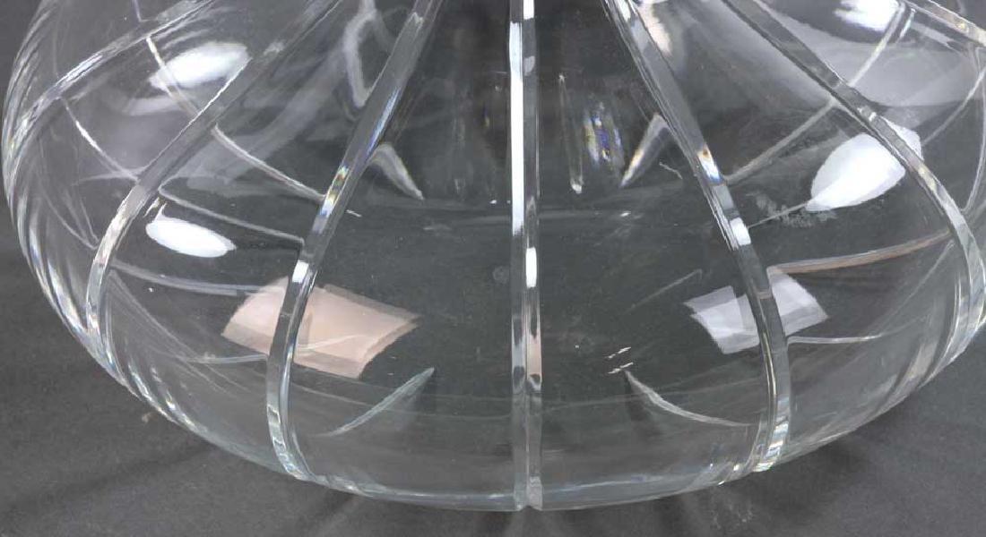 Signed Baccarat Cut Crystal Vase - 4