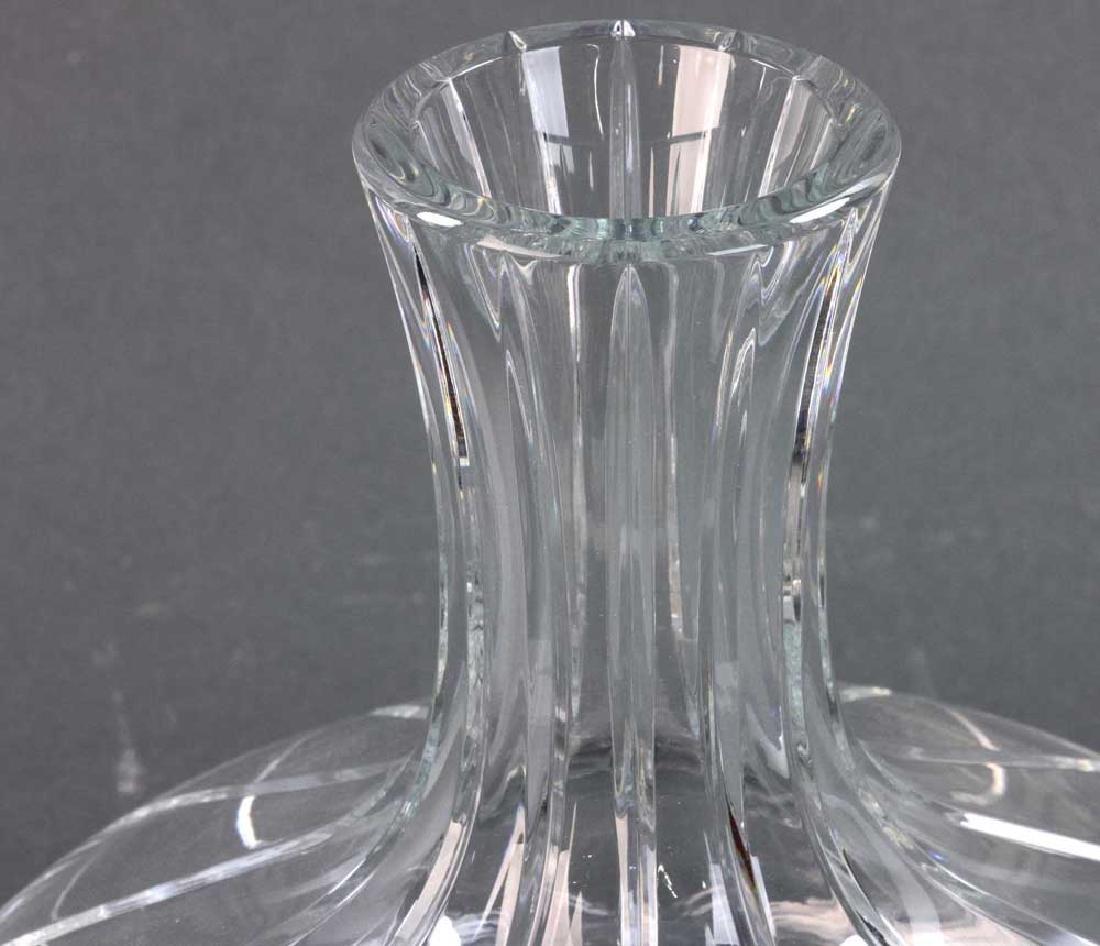 Signed Baccarat Cut Crystal Vase - 5