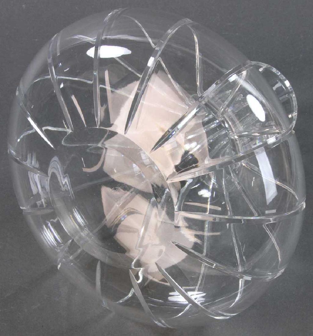 Signed Baccarat Cut Crystal Vase - 6