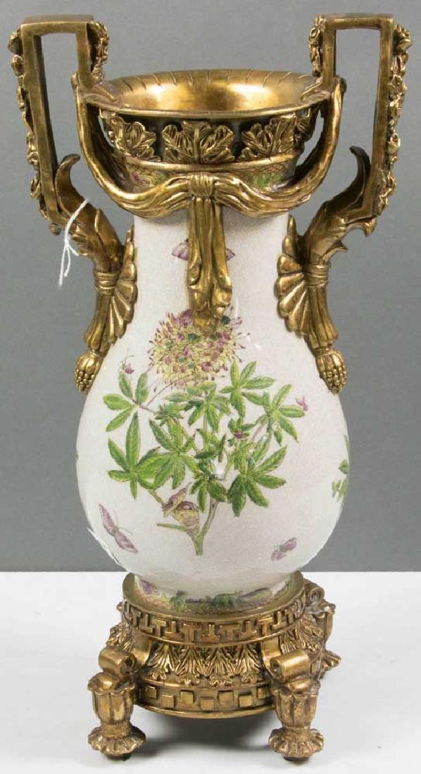 Ornate Bronze Mounted Porcelain Vase