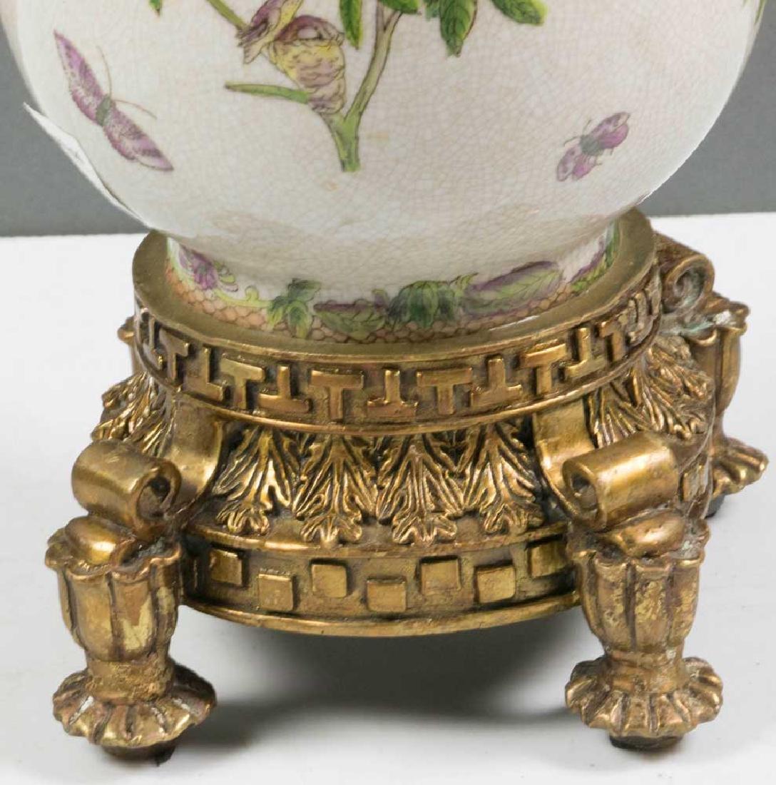 Ornate Bronze Mounted Porcelain Vase - 2