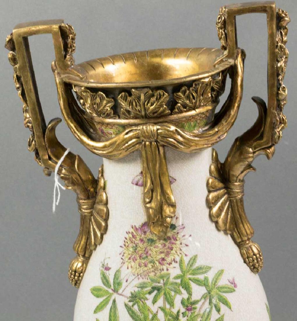 Ornate Bronze Mounted Porcelain Vase - 3