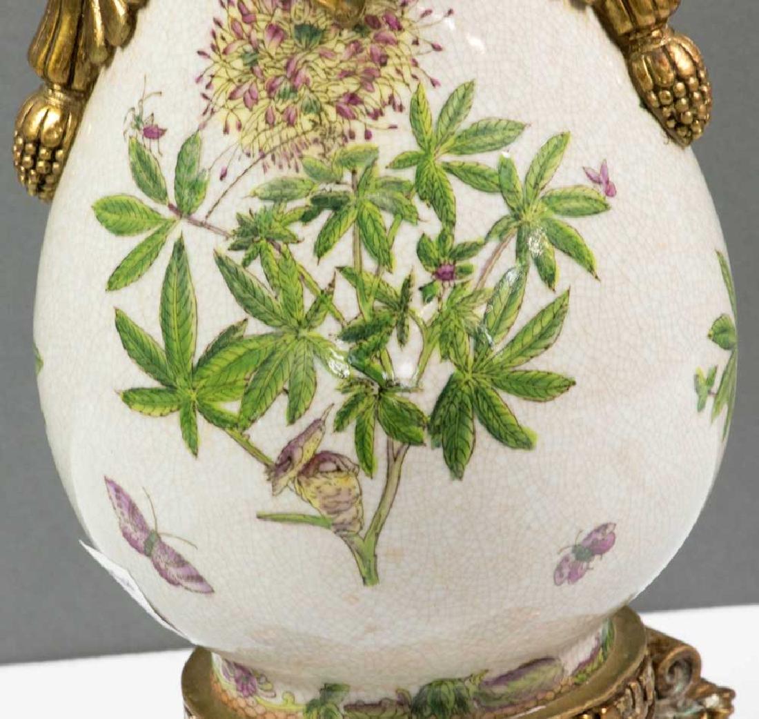 Ornate Bronze Mounted Porcelain Vase - 4