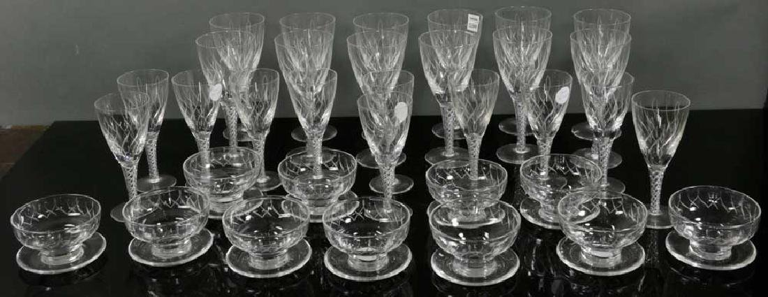 Set of Stuart Crystal with Air Twist Stems