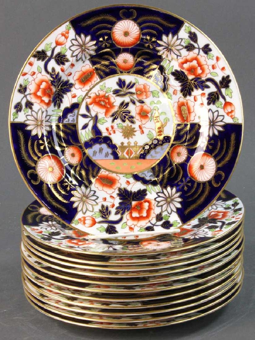 Twelve Royal Crown Derby Imari Plates