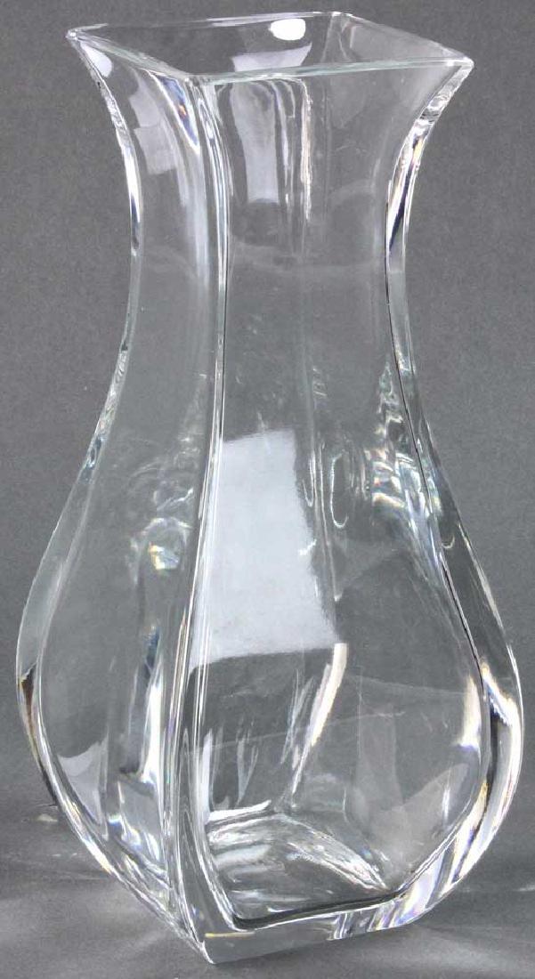 Signed Baccarat Crystal Vase