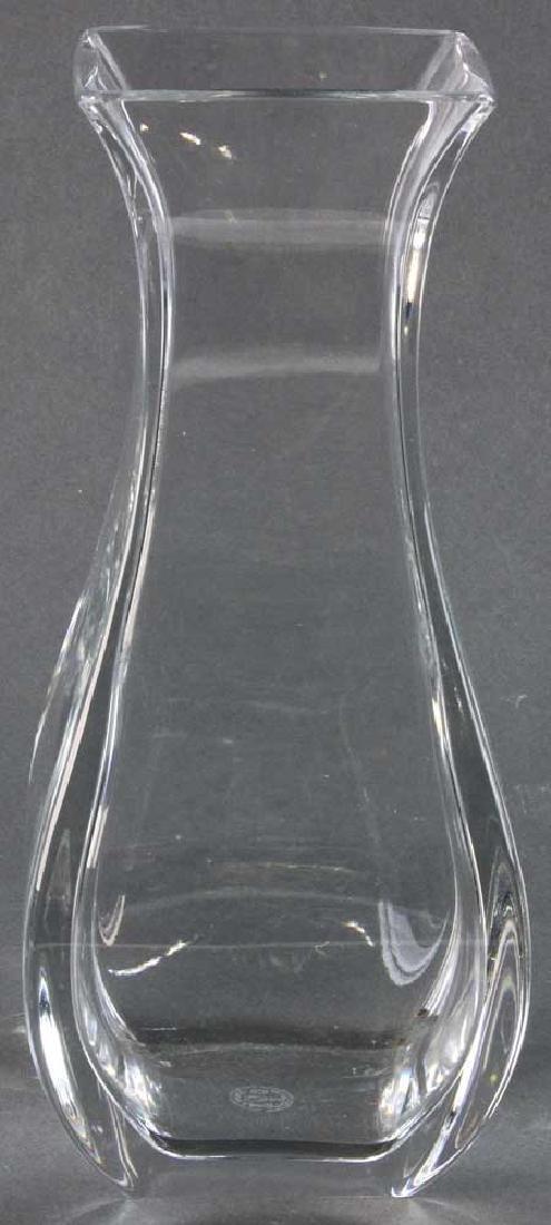 Signed Baccarat Crystal Vase - 3