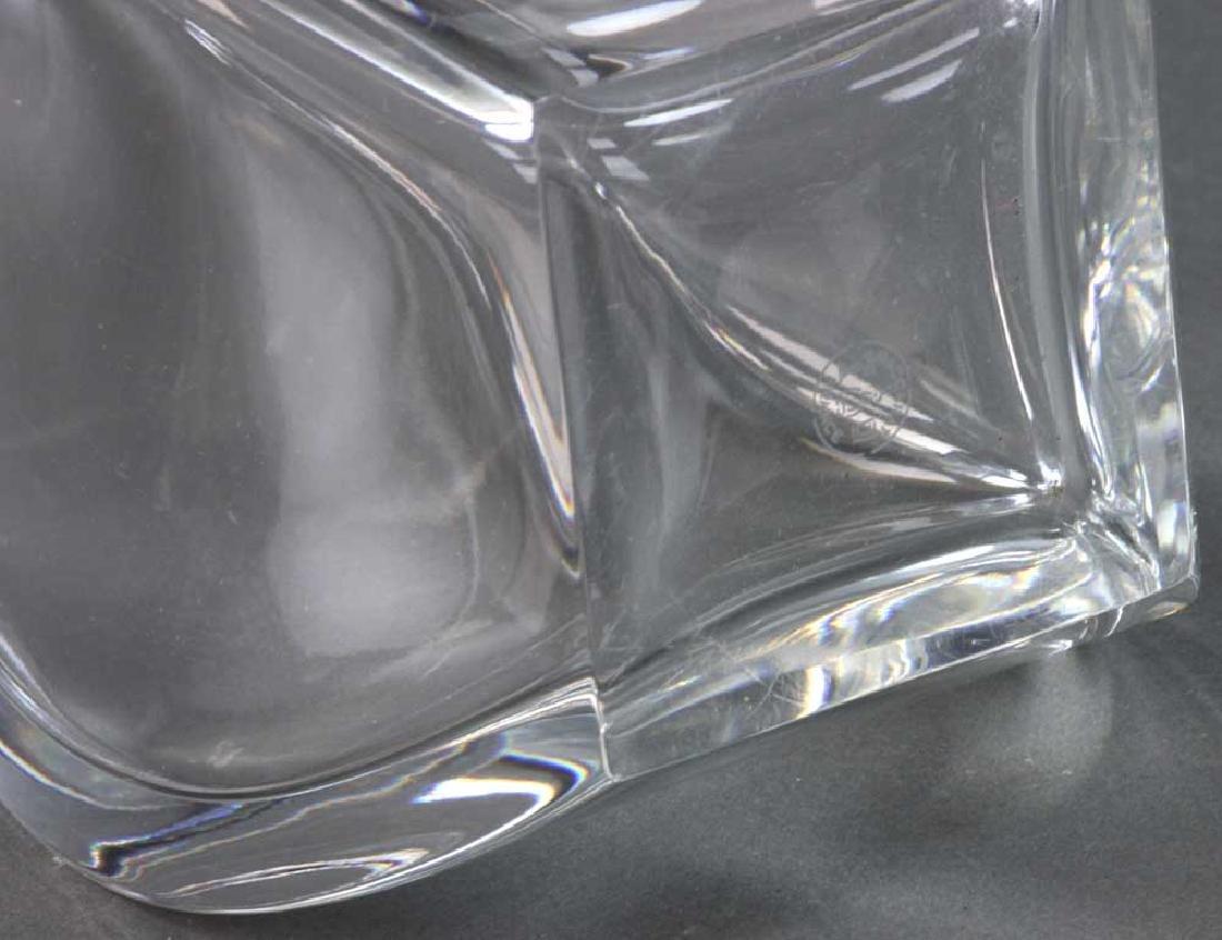 Signed Baccarat Crystal Vase - 6