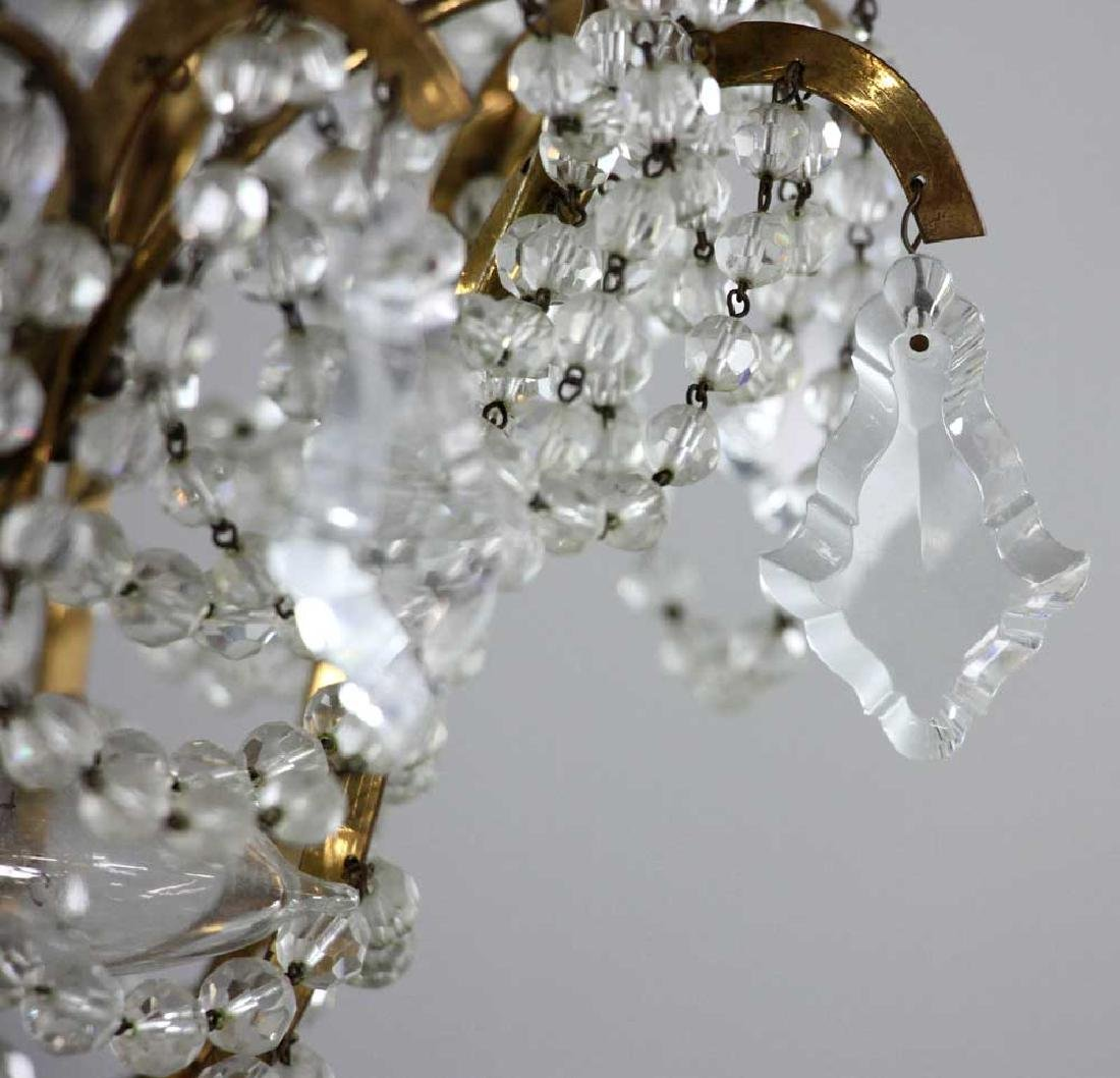 Brass and Crystal Chandelier - 3