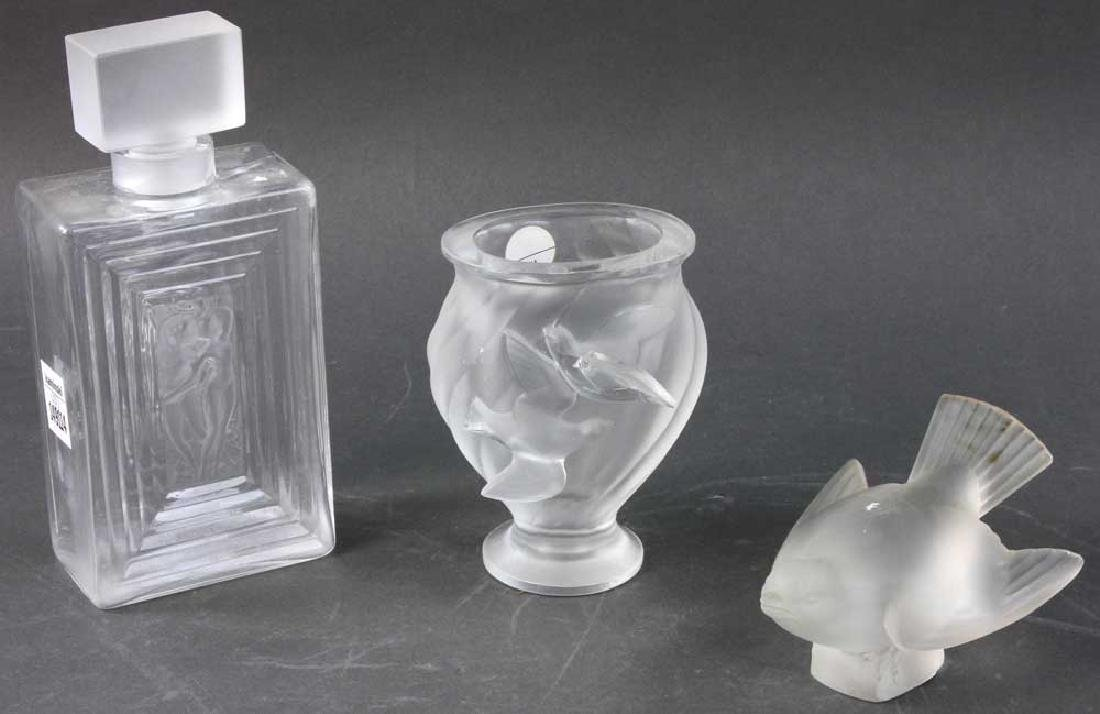 Three Pieces of Lalique Glass