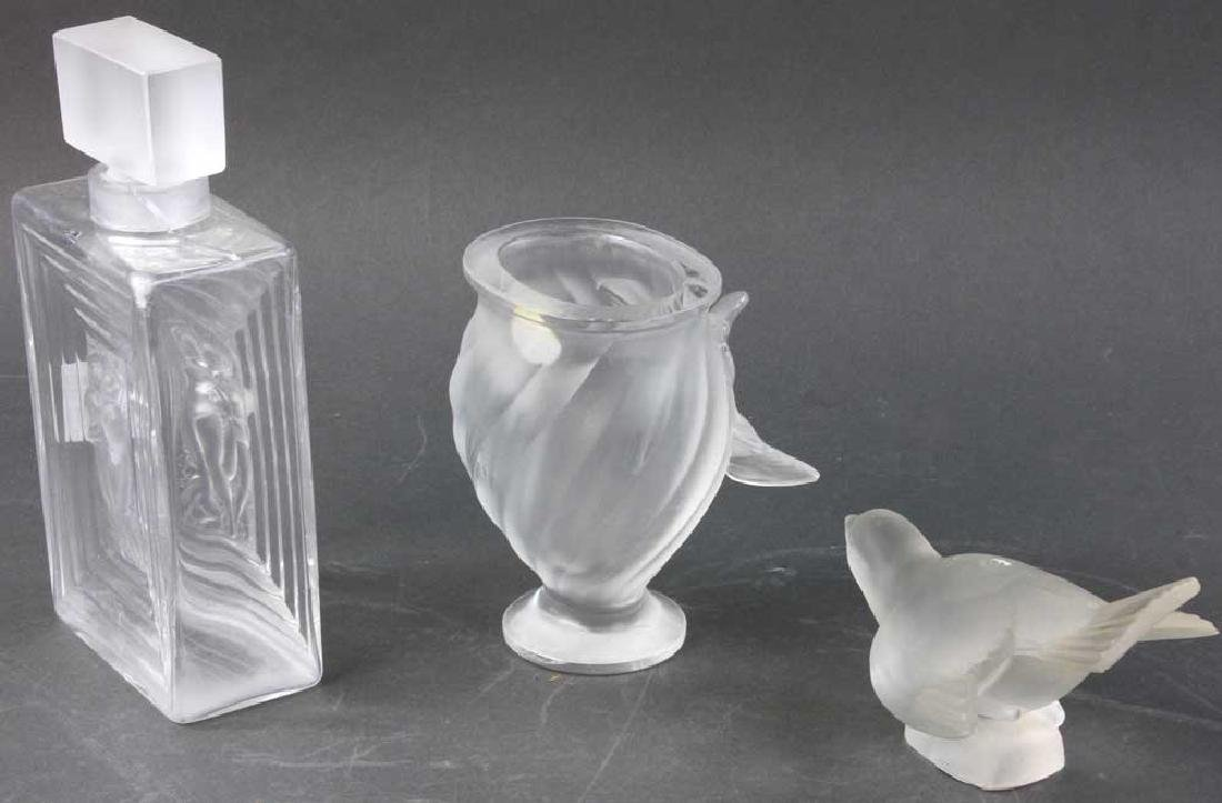 Three Pieces of Lalique Glass - 3