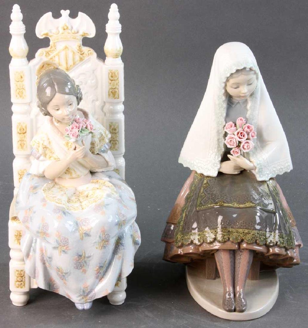 Two Lladro Figures of Young Women