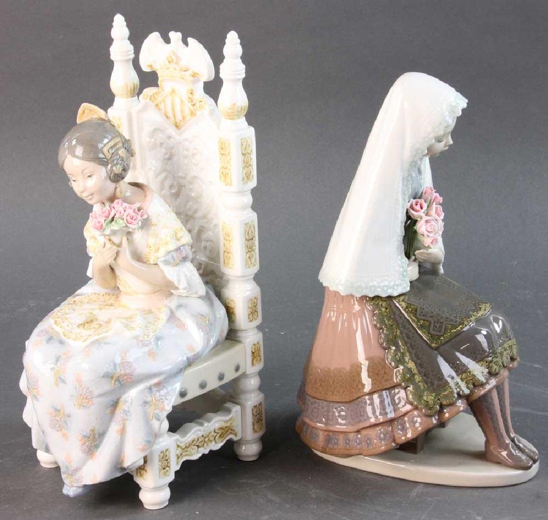Two Lladro Figures of Young Women - 2