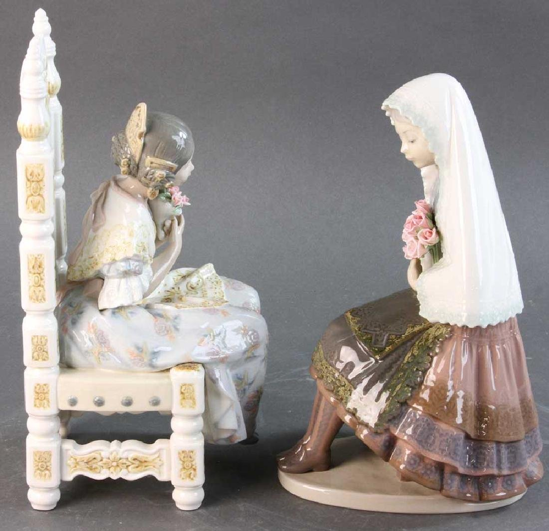 Two Lladro Figures of Young Women - 4