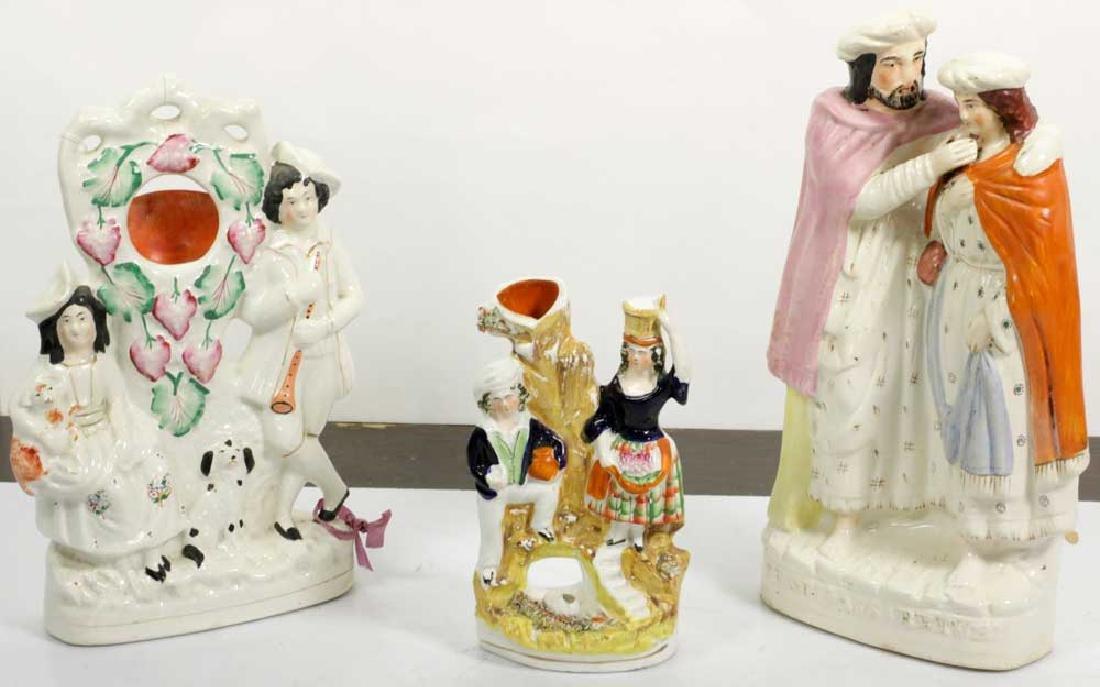 Three 19th C. Staffordshire Figures