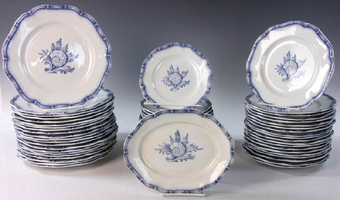 Continental China White with Blue Design