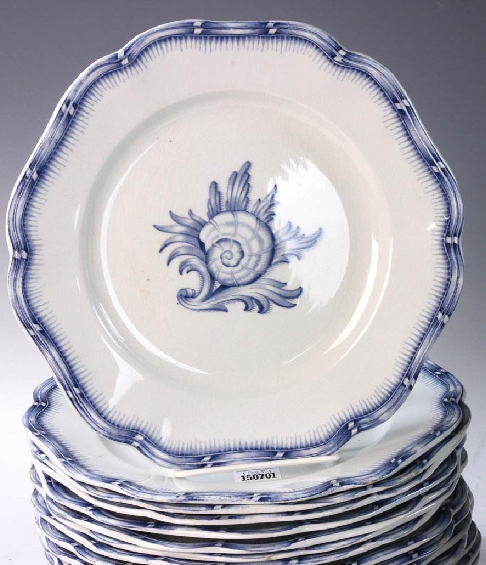 Continental China White with Blue Design - 2