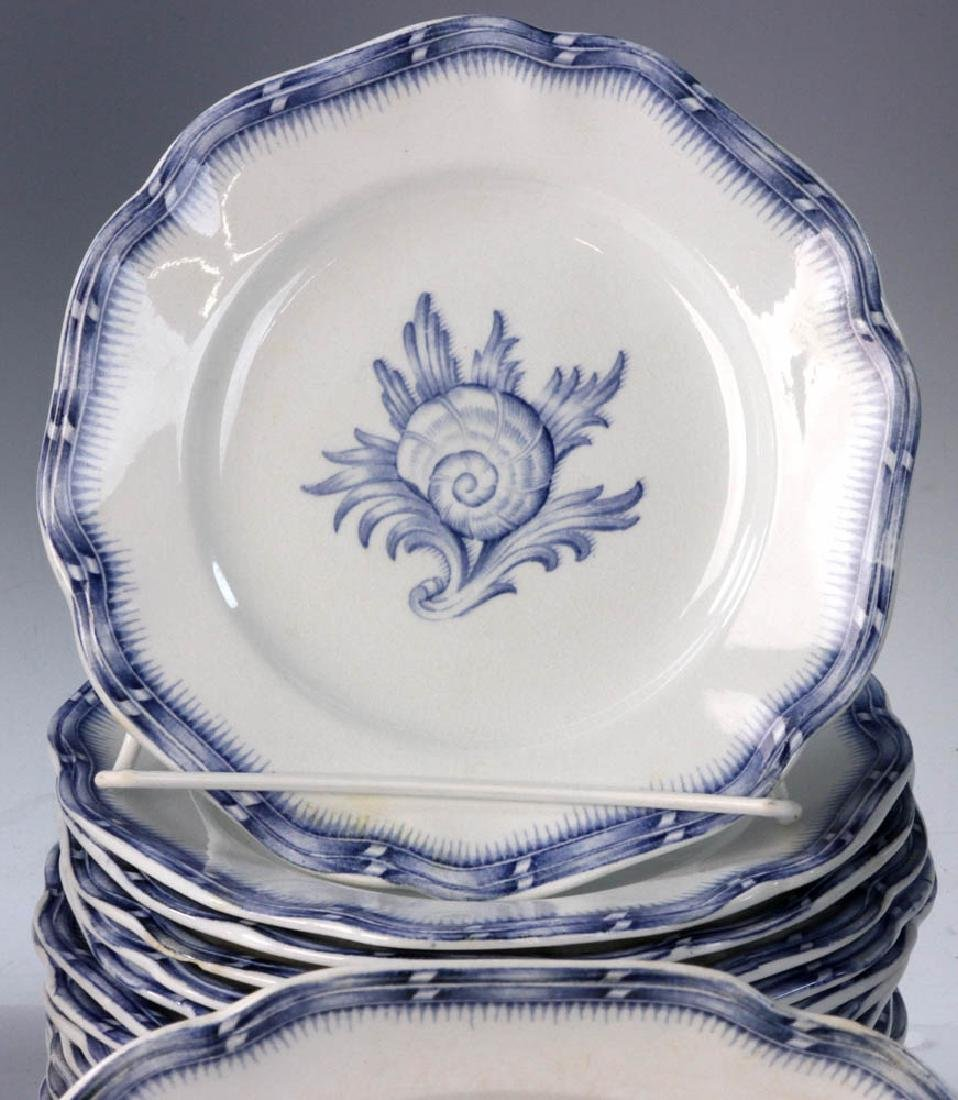 Continental China White with Blue Design - 3