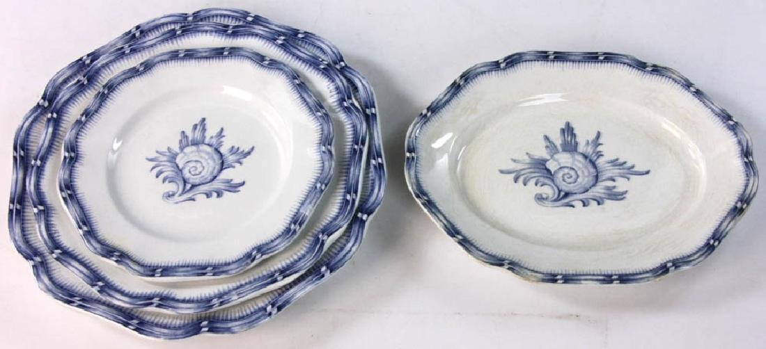 Continental China White with Blue Design - 5