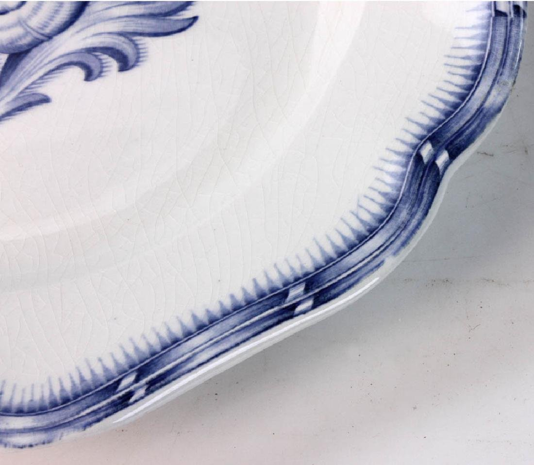 Continental China White with Blue Design - 6