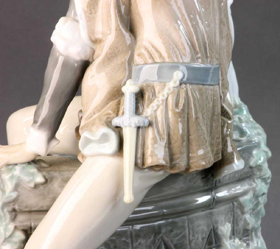 Large Lladro Figure of Courting Couple - 3