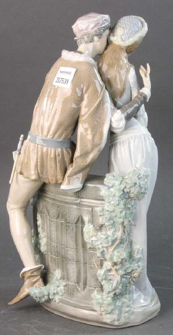 Large Lladro Figure of Courting Couple - 5