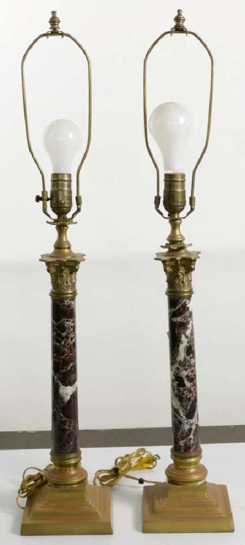 Pair of French Empire Style Table Lamps