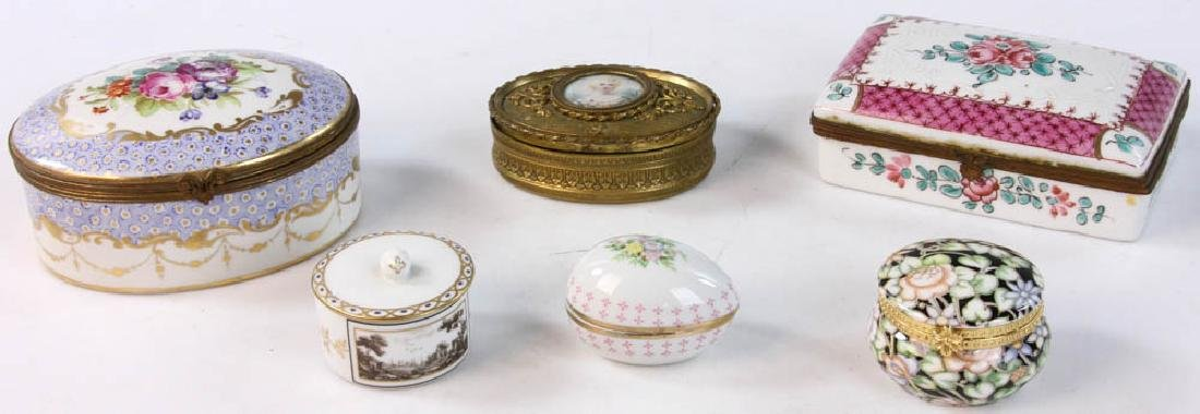 Collection of Covered Boxes