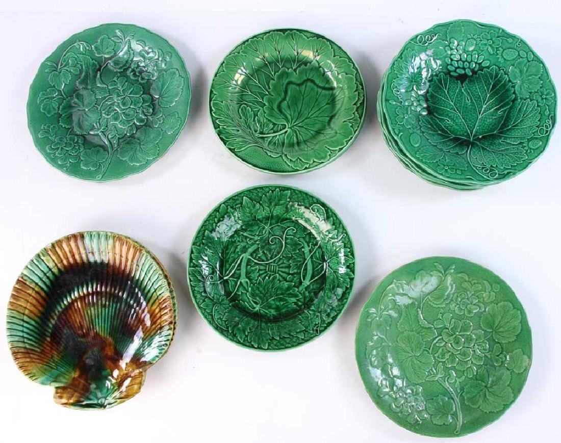 Collection of 19th C. English Majolica Plates