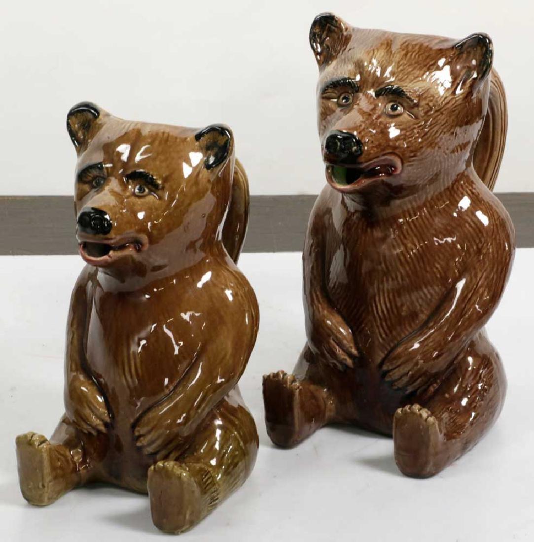 Graduated Set of Figural Bear Pitchers - 2