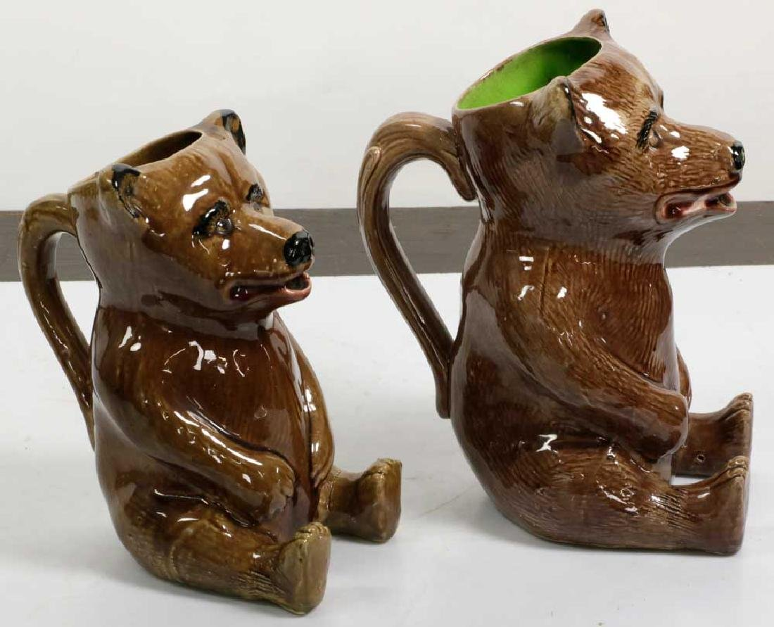 Graduated Set of Figural Bear Pitchers - 3