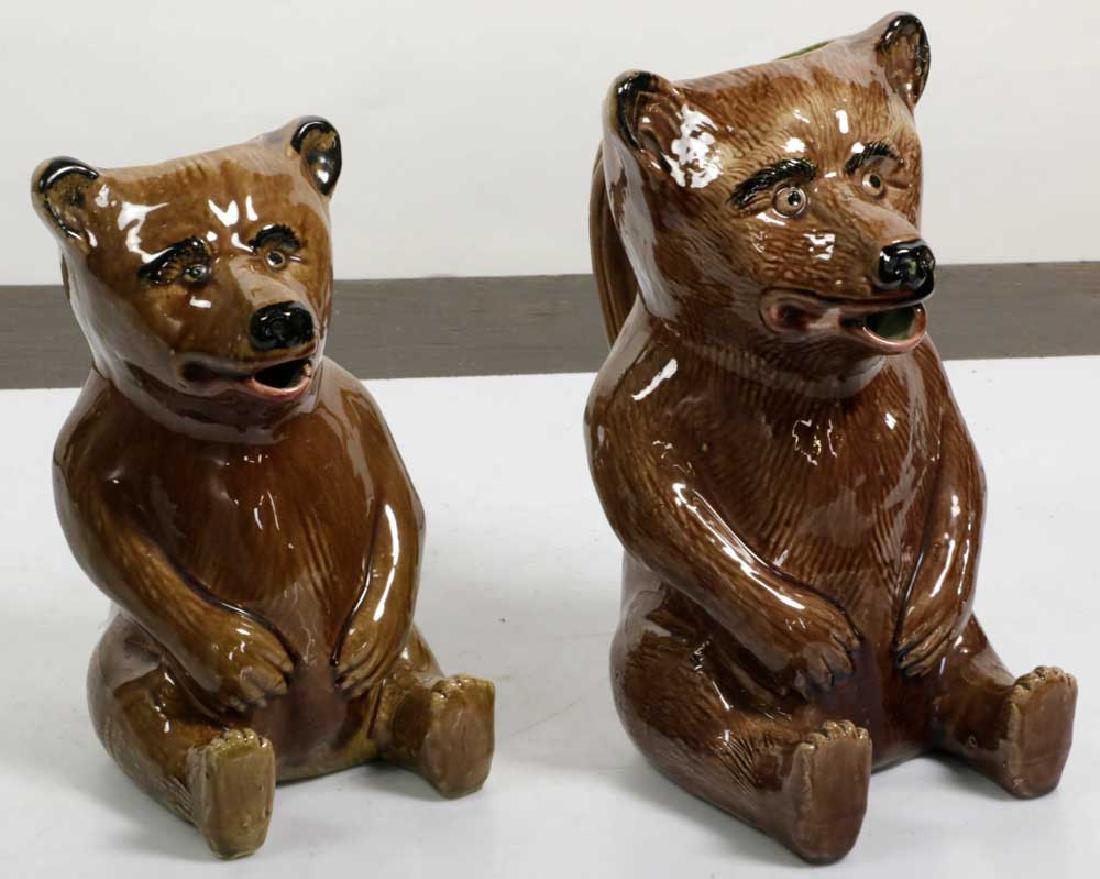 Graduated Set of Figural Bear Pitchers - 4