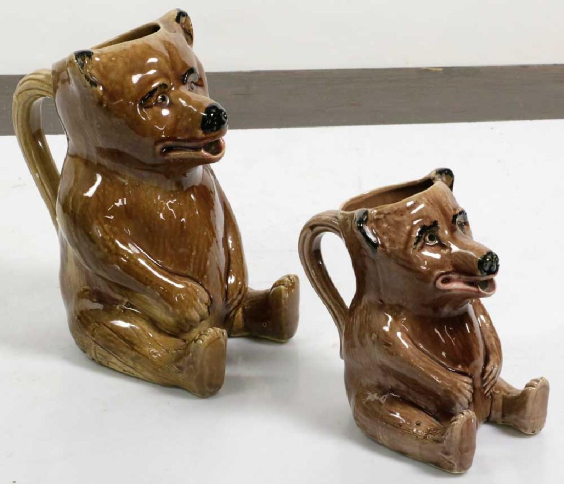 Graduated Set of Figural Bear Pitchers - 5