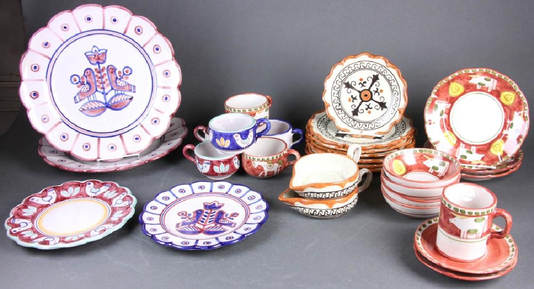 Grouping of Pottery Tableware