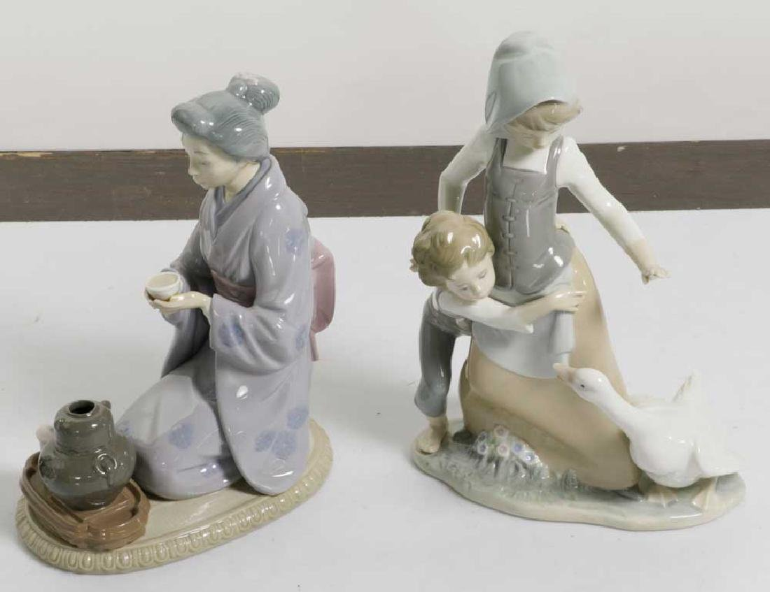 Two Lladro Figures Children and Geisha