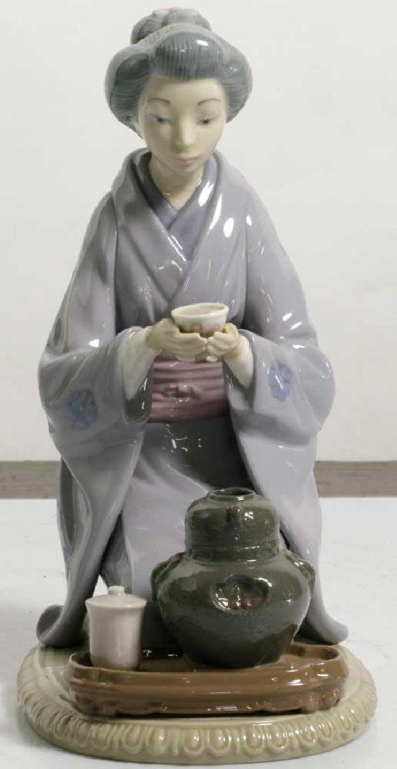 Two Lladro Figures Children and Geisha - 6