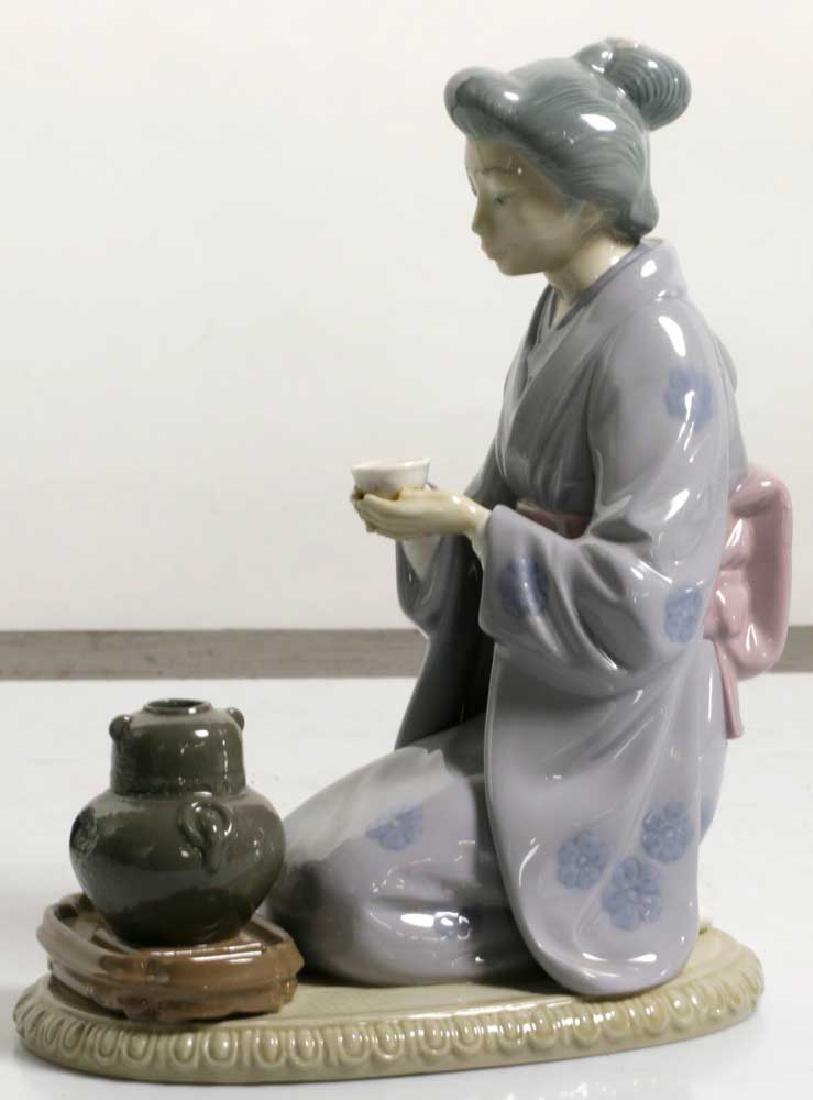 Two Lladro Figures Children and Geisha - 8