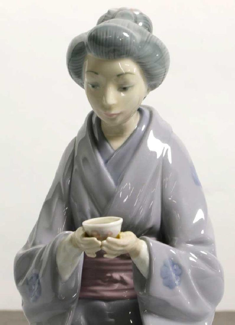 Two Lladro Figures Children and Geisha - 9