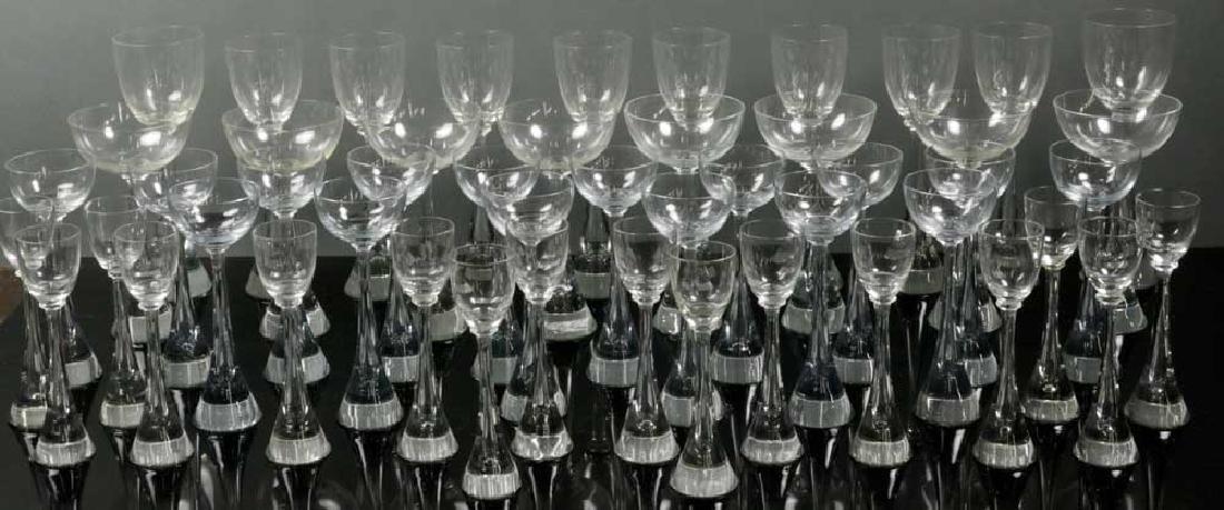 Mid Century Style Blown Glass Stemware
