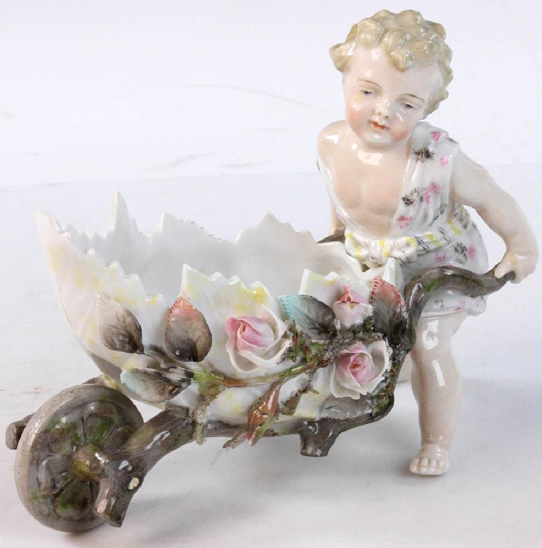 Meissen Figure of Young Child With Cart