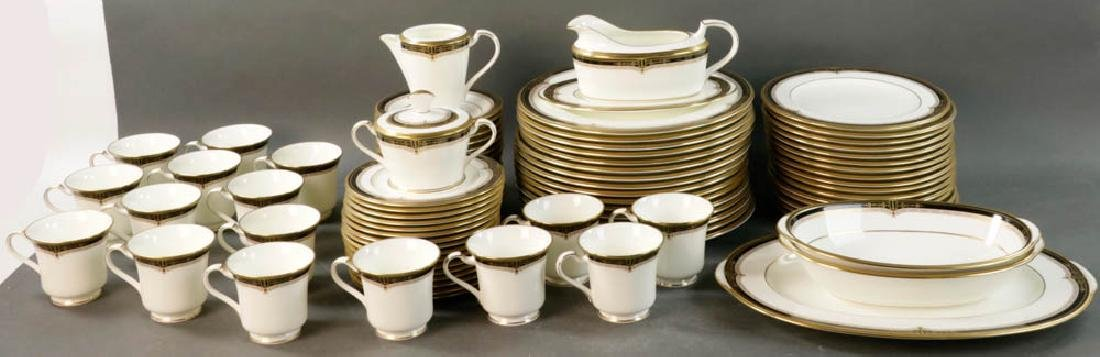 Noritake China Gold and Sable Pattern