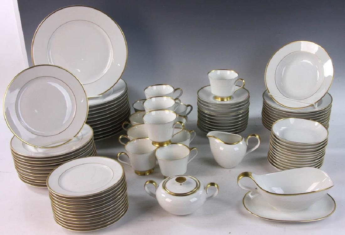 H. & Co. Selb Bavaria China White and Gold