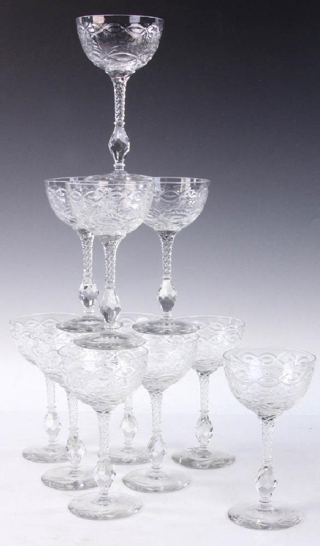 Set of Cut Crystal Goblets