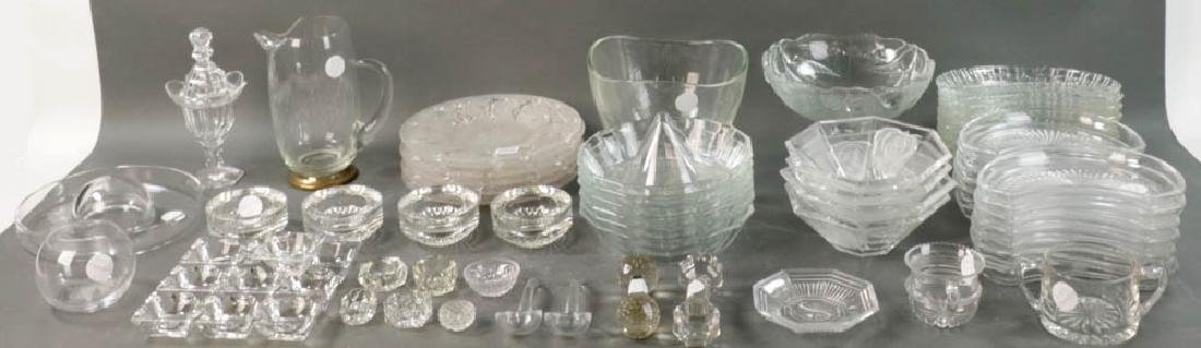 Grouping of Colorless Glass Tableware