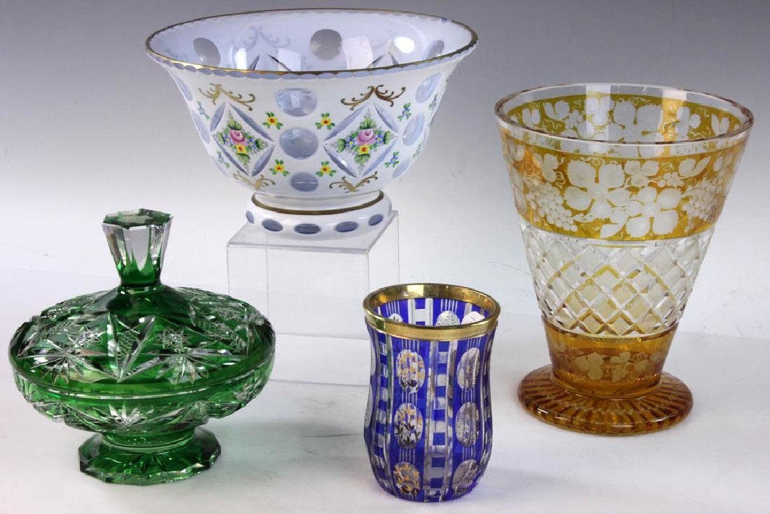 Collection of Bohemian Glass