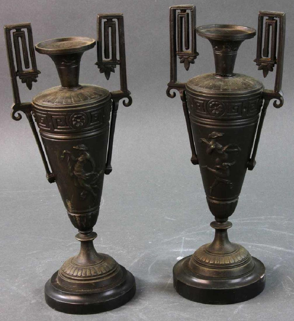 Pair Bronze Grand Tour Urns